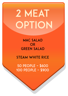 2 meat catering option